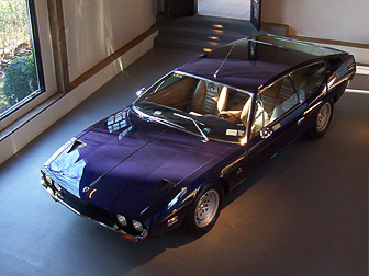 Lamborghini Espada on display after restoration and painting by Randall's Auto Body of Southampton, NY.